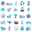 ecology Blue Icons