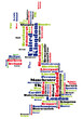 abstract vector map of united kingdom / great britain