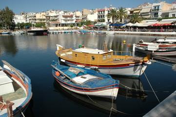 Boote in Agios Nikolaos, Kreta