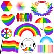 rainbow colour icon collection