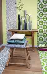 spring color for decoration interior elements