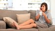 Brunette young woman having a phone call