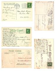 Vintage Postcards Digital Collage Sheet