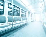 Fototapete Blau - Board - Tunnel / Unterirdisch