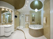 gold bathroom