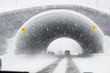 Winter road tunnel