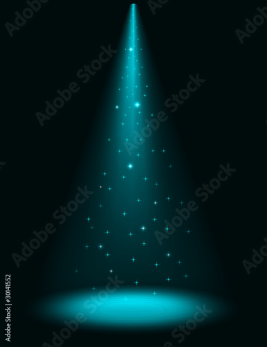 Poster Licht, schaduw Abstract stage sparkling spotlight vector background.