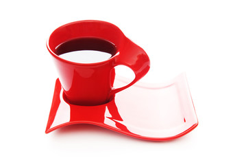 Cup of tea isolated on the white