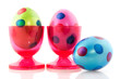 Colorful easter eggs in cups