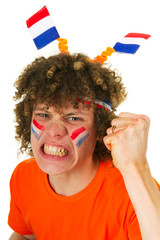 Boy is supporting the Dutch