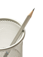 Lead pencil in cup