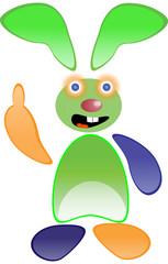 Green funny rabbit