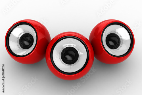 red ball music device