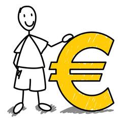 Homme fier de l'Euro