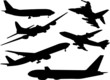 airplane collection vector
