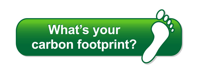 """WHAT'S YOUR CARBON FOOTPRINT"" Web Button (recycle go green)"