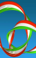Italia drappo 3d - bandiera
