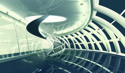 Futuristic Interior 3D Render