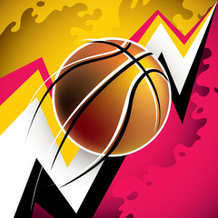 Illustrated modern basketball background with abstraction.