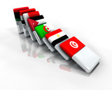 Domino effect democracy middle east revolution poster