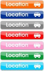 boutons location de voiture