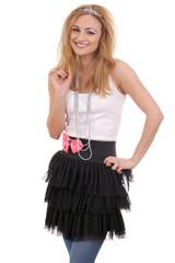 Beautiful happy young woman wearing tiara and tutu 2