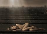 Fototapety Beautiful naked woman laying