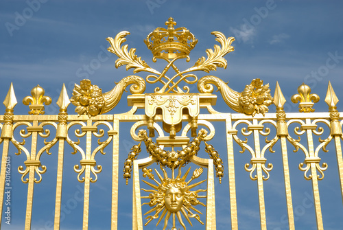 Versailles Palace Park golden Gate Detail