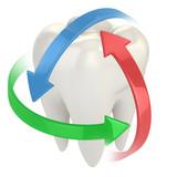 zuby na ochranu 3d koncepce