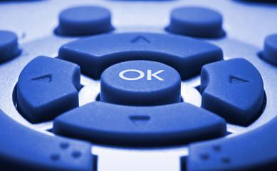 remote control colorized in blue
