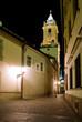 Bratislava street at night
