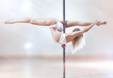Fototapety Young pole dance woman