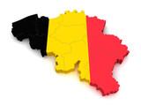 3D Map of Belgium