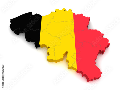 3D Map of Belgium