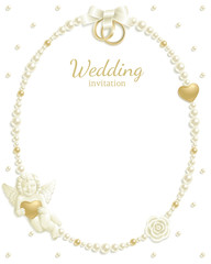 Wedding jewel frame