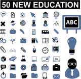 Fototapety 50 education signs