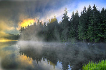 Sunrise Over Trillium Lake Oregon