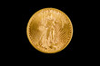 United States double eagle gold coin, St.Gaudens type,obverse