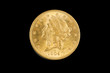 United States double eagle gold coin, liberty type,obverse