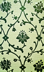 Beautiful wallpaper with floral design