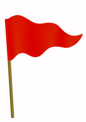 Red little three cornered flag