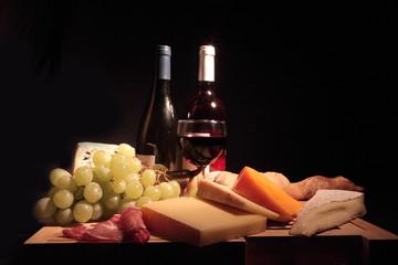 fromage, vin et pain