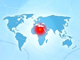 africa conflict disorder news map poster