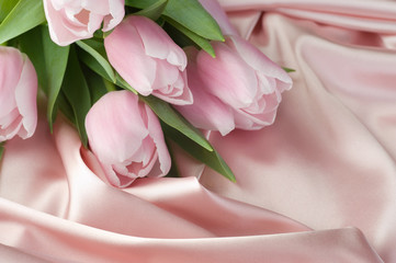 Tulips and silk!