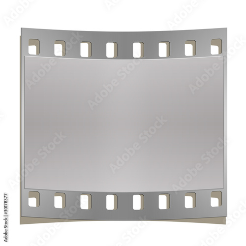 Silver photographic frame