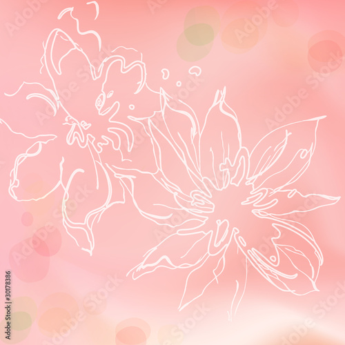 Stylish abstract floral background