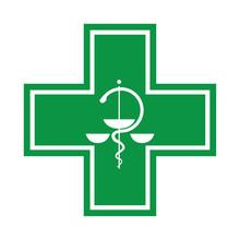 Krzyż medyczne - symbol z wężem - ilustracja