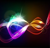 Magic light. Vector abstract background