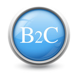 Symbole glossy vectoriel B2C 01 poster