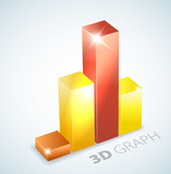 3D bar graph with visual effects poster